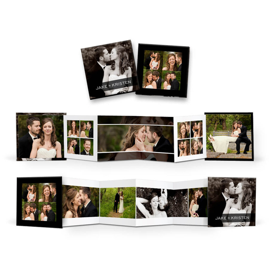 Modern | Square Accordion Mini Book - 3 Dollar Photoshop Templates for Photographers