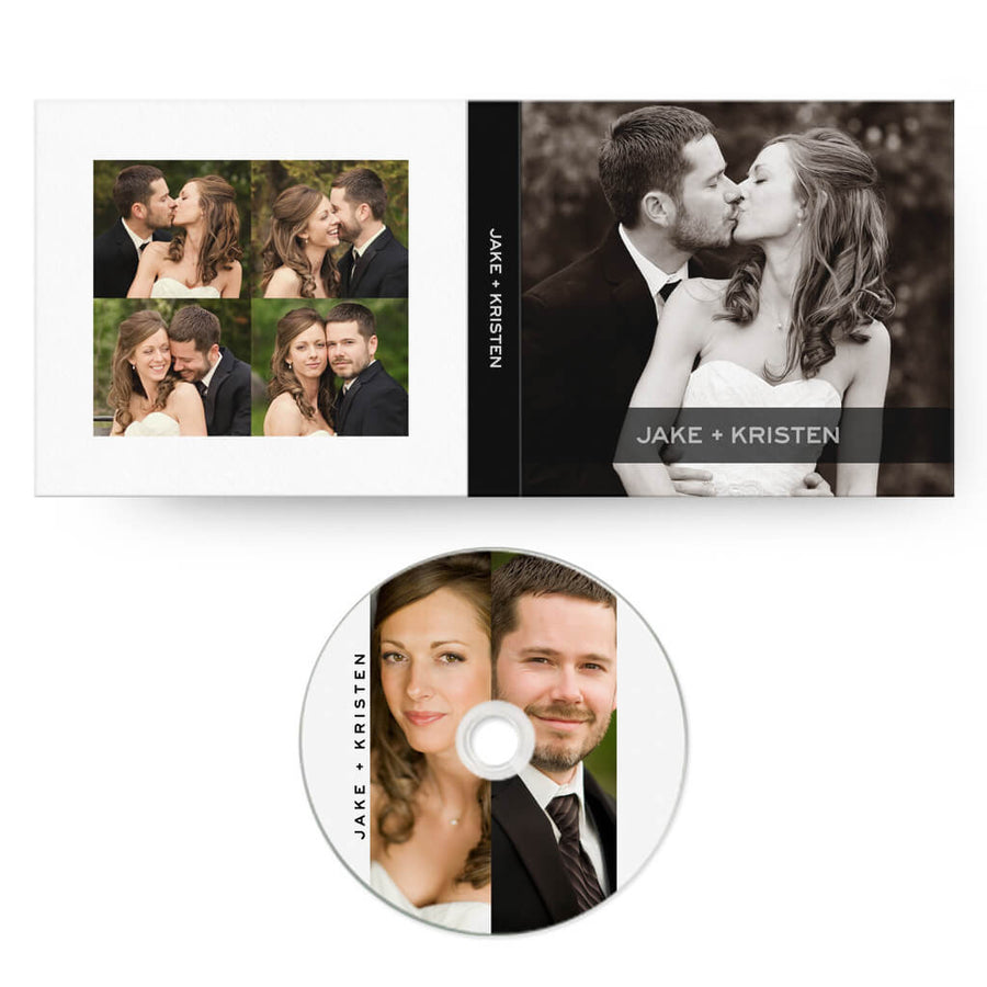 Modern | CD Case + Optional CD Label - 3 Dollar Photoshop Templates for Photographers