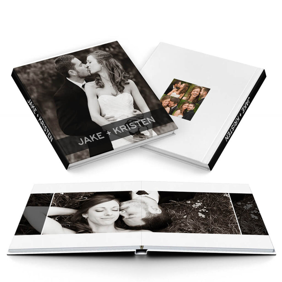 Modern Wedding Album - 3 Dollar Photoshop Templates for Photographers