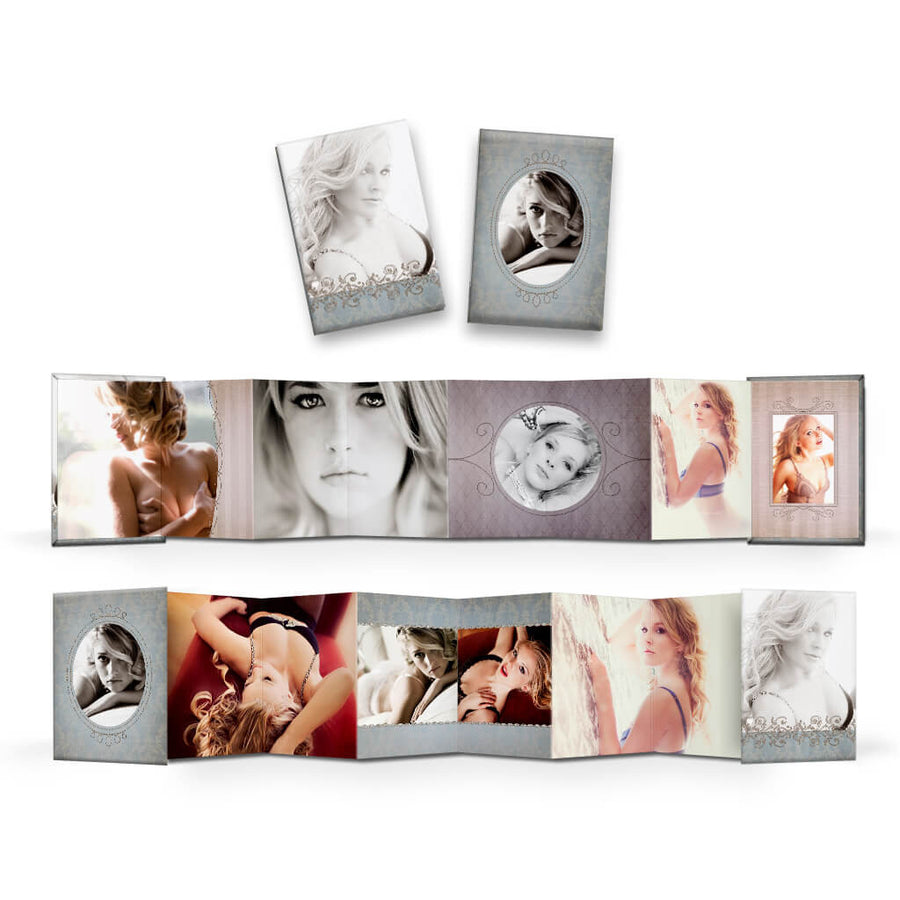 Mon Amour | Wallet Accordion Mini Book - 3 Dollar Photoshop Templates for Photographers