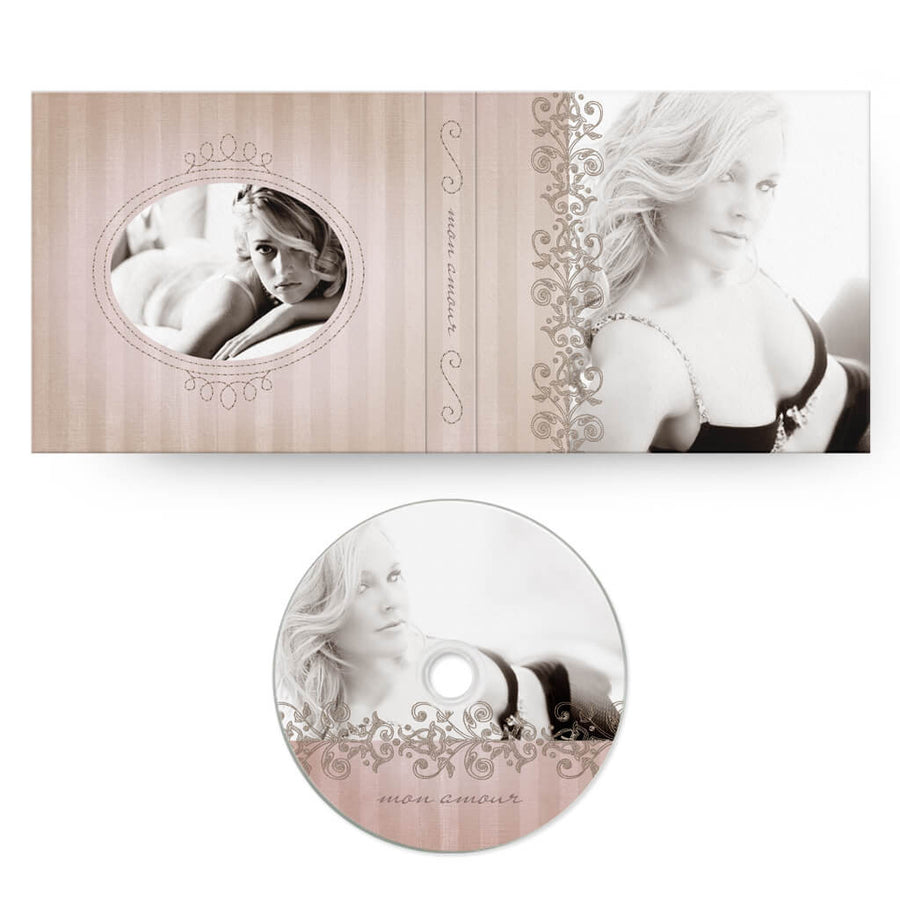 Mon Amour | CD Case + Optional CD Label - 3 Dollar Photoshop Templates for Photographers