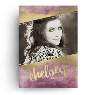 Mulberry | Senior Graduation Card - 3 Dollar Photoshop Templates for Photographers