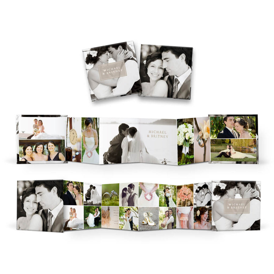 Multiplicity | Square Accordion Mini Book - 3 Dollar Photoshop Templates for Photographers