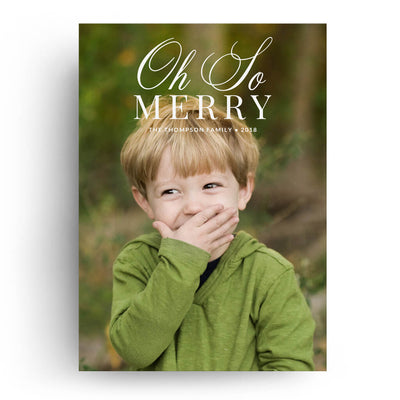 Oh So Merry | Christmas Card - 3 Dollar Photoshop Templates for Photographers