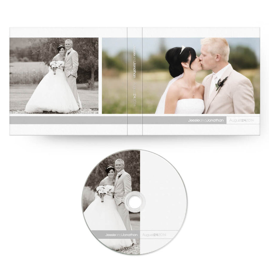 Oh So Simple | CD Case + Optional CD Label - 3 Dollar Photoshop Templates for Photographers