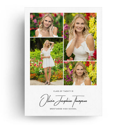 Olivia | Senior Graduation Card - 3 Dollar Photoshop Templates for Photographers