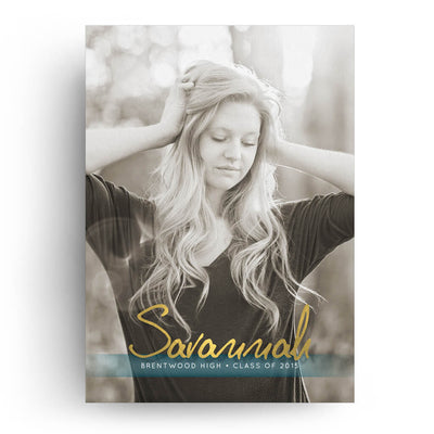 Ombre | Senior Graduation Card - 3 Dollar Photoshop Templates for Photographers