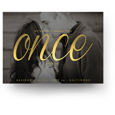 Once | Save-the-Date Card - 3 Dollar Photoshop Templates for Photographers