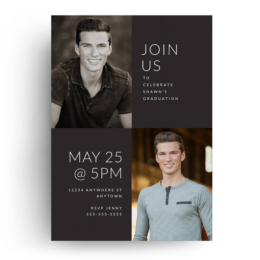 Outlined | Senior Graduation Card - 3 Dollar Photoshop Templates for Photographers