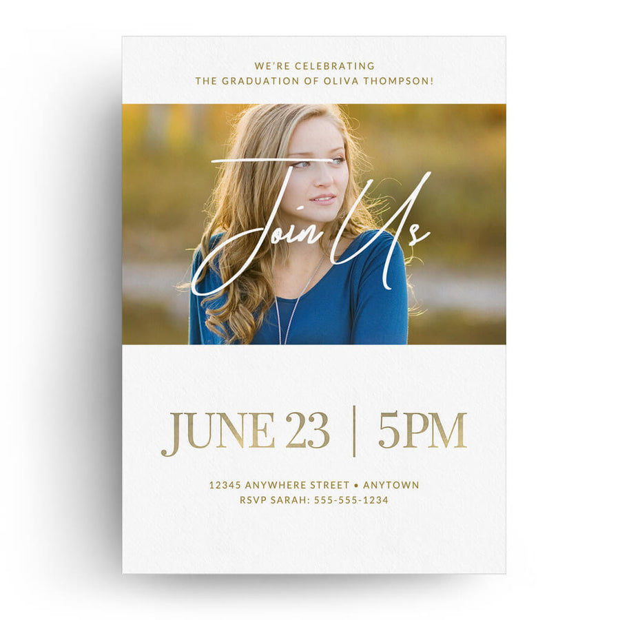 Overlay | Senior Graduation Card - 3 Dollar Photoshop Templates for Photographers