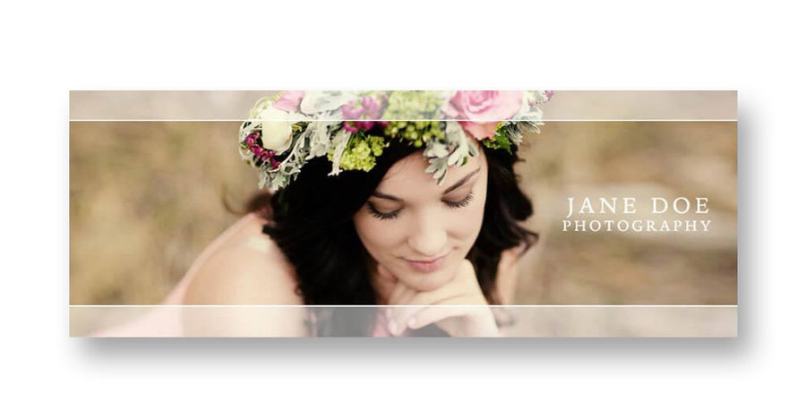 Overlay | Facebook Cover - 3 Dollar Photoshop Templates for Photographers