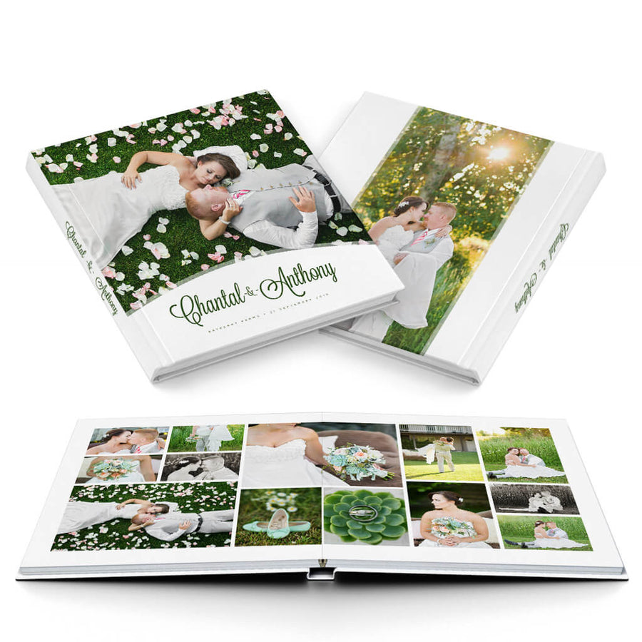 Petit Fleur III Wedding Album - 3 Dollar Photoshop Templates for Photographers