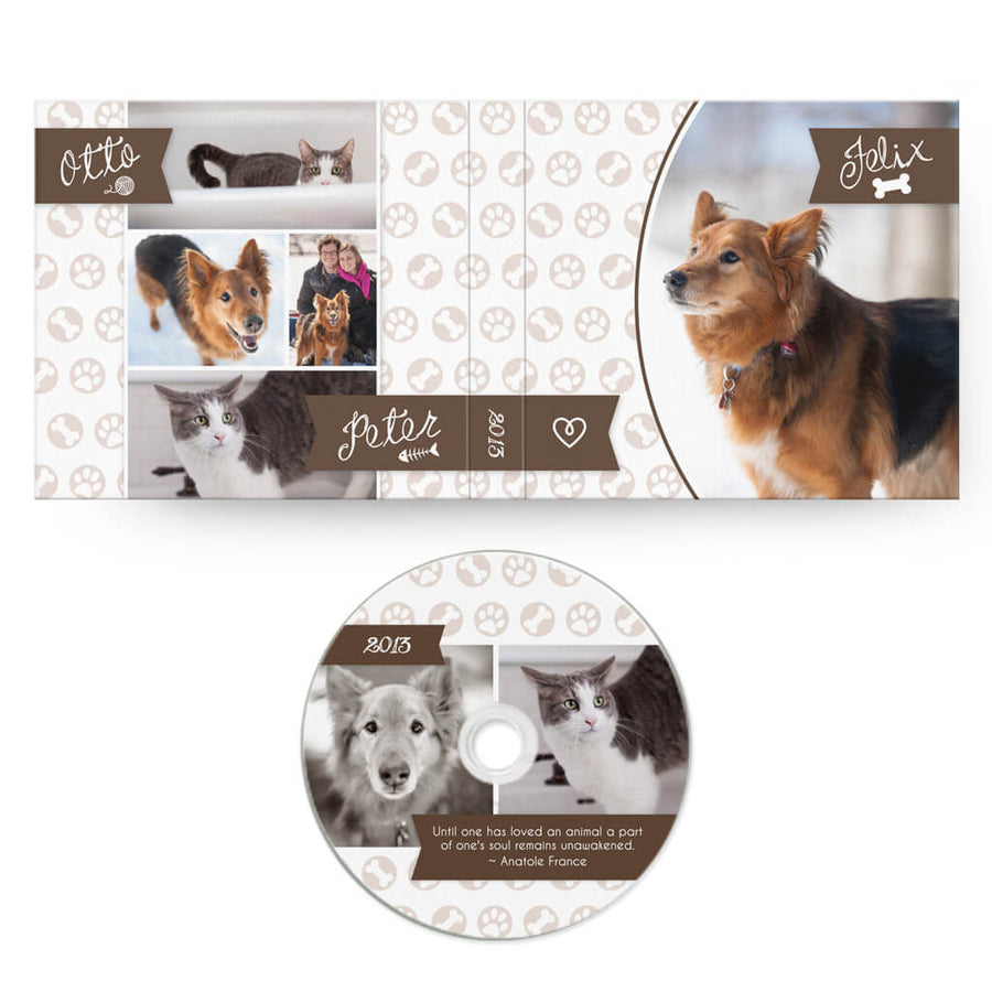 Paws & Claws | CD Case + Optional CD Label - 3 Dollar Photoshop Templates for Photographers