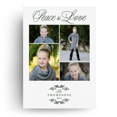 Peace and Love | Christmas Card - 3 Dollar Photoshop Templates for Photographers