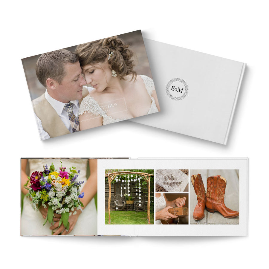 12x8 Petit Fleur Wedding - 3 Dollar Photoshop Templates for Photographers