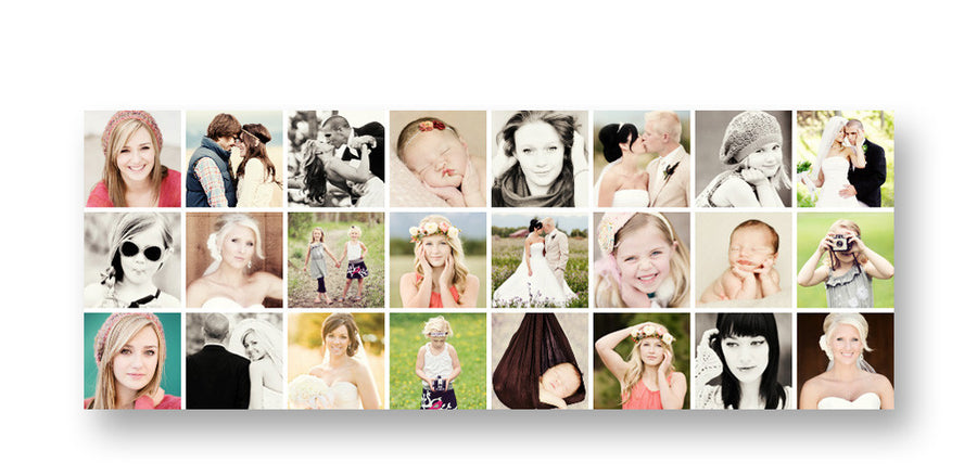 Photo Grid | Facebook Cover - 3 Dollar Photoshop Templates for Photographers