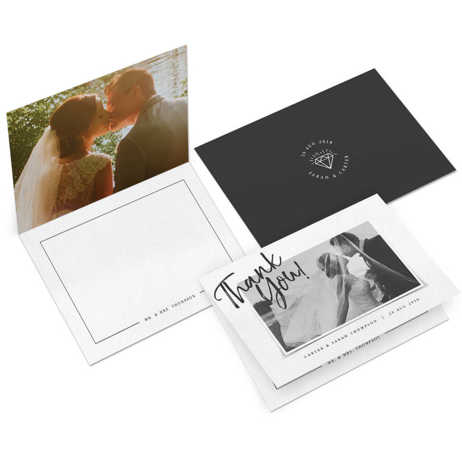 Picture Perfect | 5x7 Folding Thank You Card - 3 Dollar Photoshop Templates for Photographers