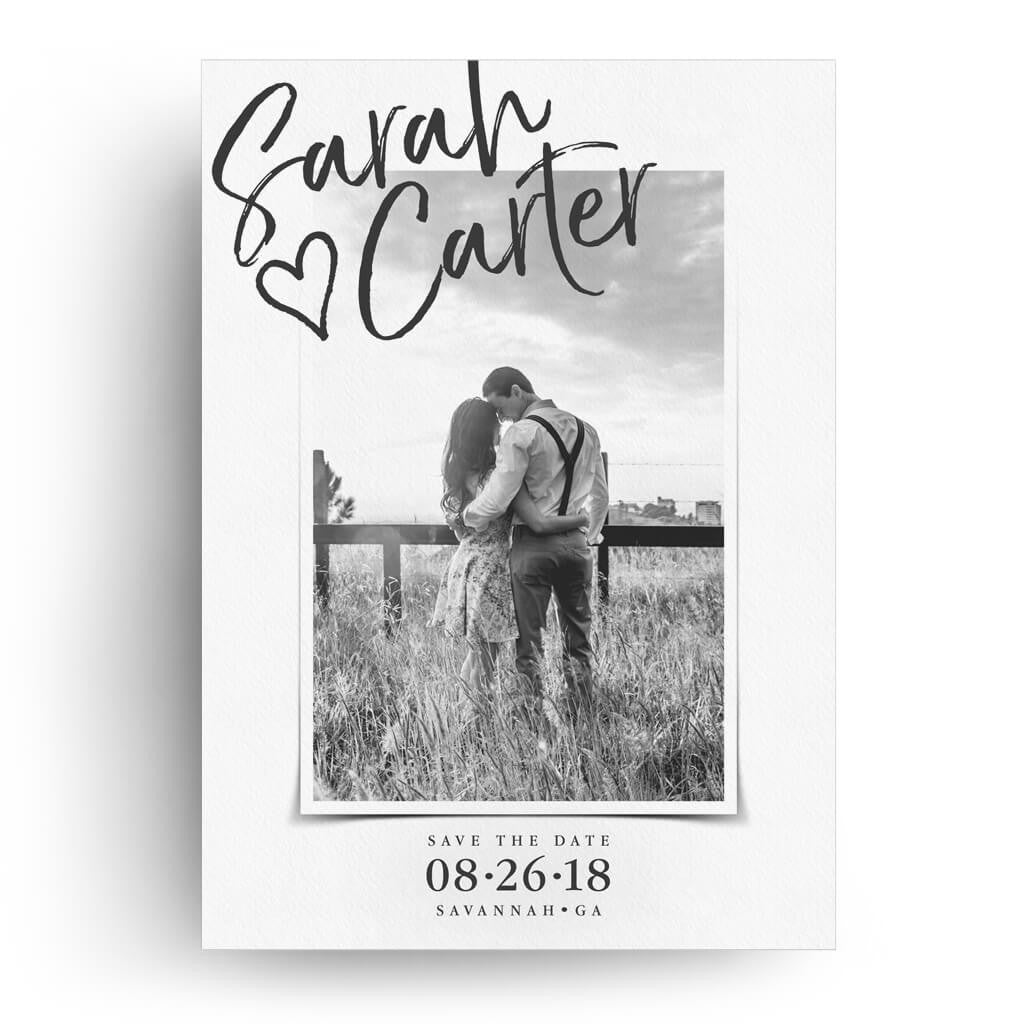 picture perfect save the date card 3 dollar templates