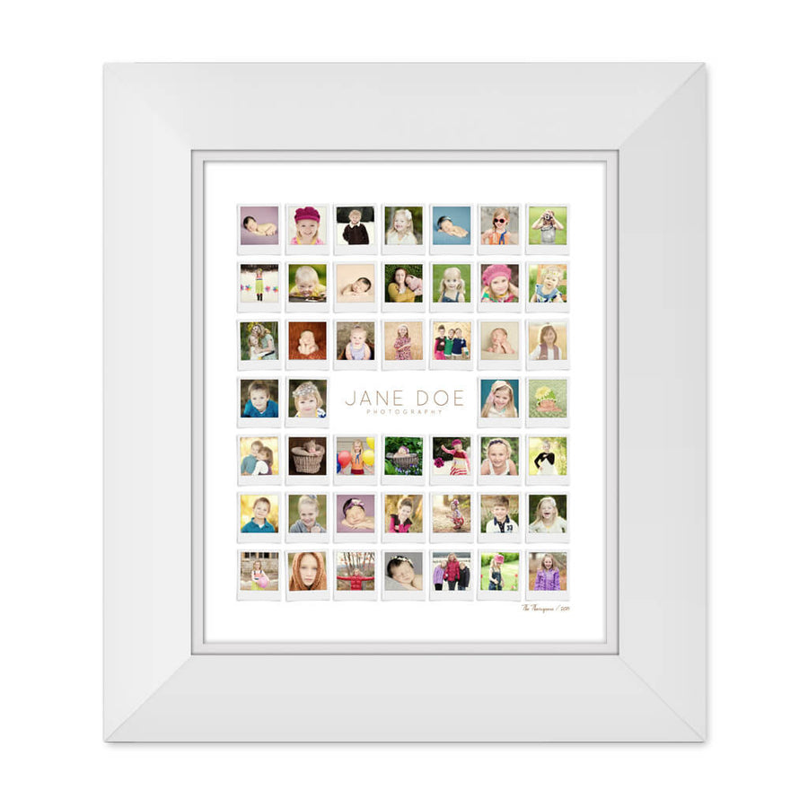 Polaroids | 20x24 Collage Template - 3 Dollar Photoshop Templates for Photographers