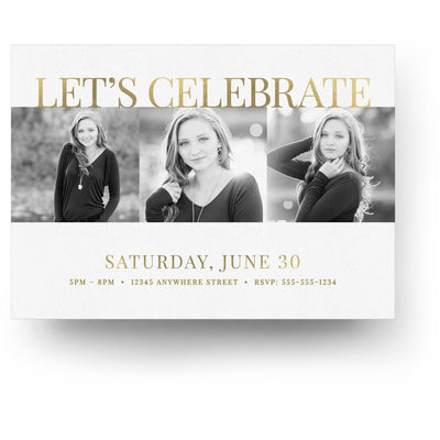 Posh | Senior Graduation Card - 3 Dollar Photoshop Templates for Photographers