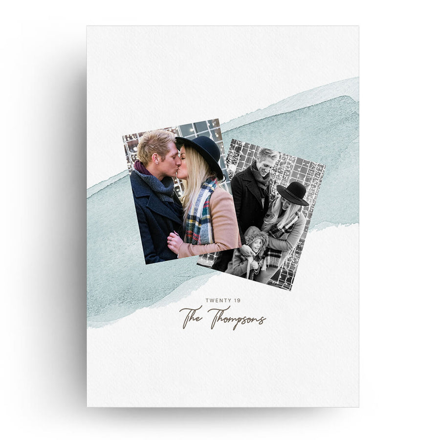 Powder Blue | Christmas Card - 3 Dollar Photoshop Templates for Photographers