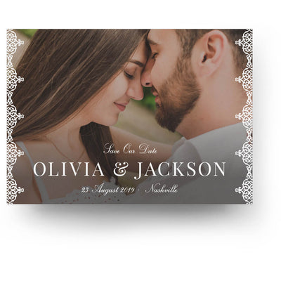 Pretty Edging | Save-the-Date Card - 3 Dollar Photoshop Templates for Photographers