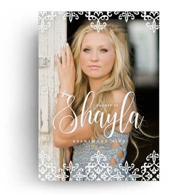 Pretty | Senior Graduation Card - 3 Dollar Photoshop Templates for Photographers