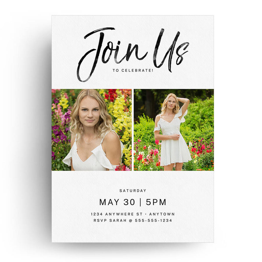 Pristine | Senior Graduation Card - 3 Dollar Photoshop Templates for Photographers