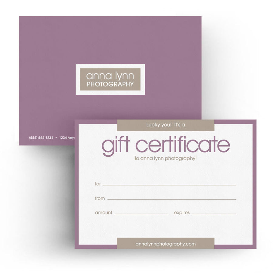 Gift certificates photoshop templates 3 dollar templates pure 5x7 gift certificate 3 dollar photoshop templates for photographers yelopaper Image collections