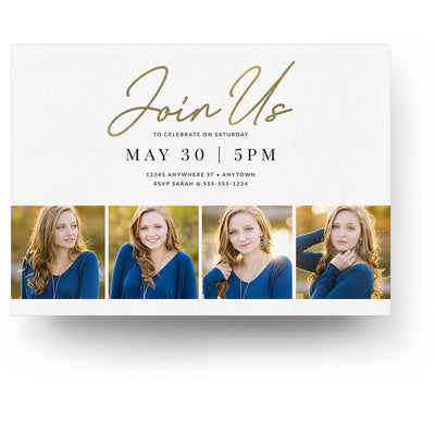 Pure | Senior Graduation Card - 3 Dollar Photoshop Templates for Photographers