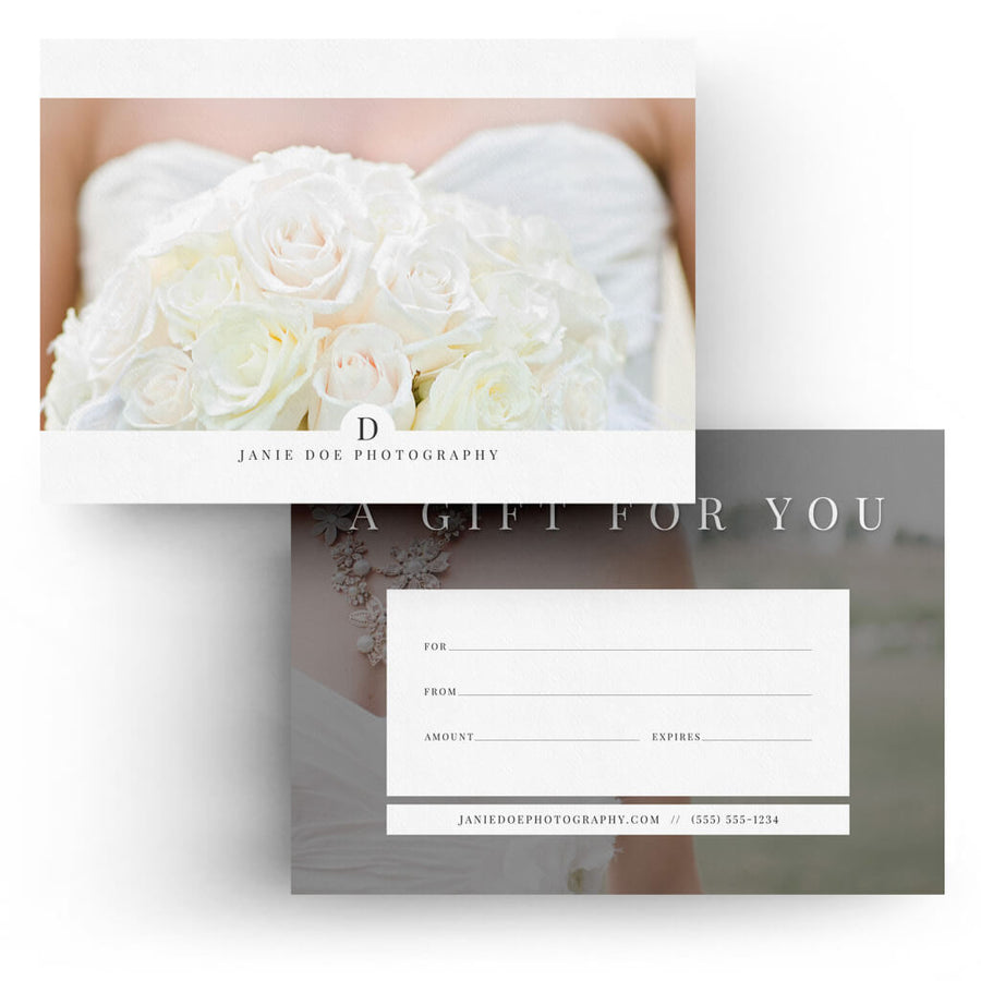Gift Certificates Photoshop Templates 3 Dollar Templates