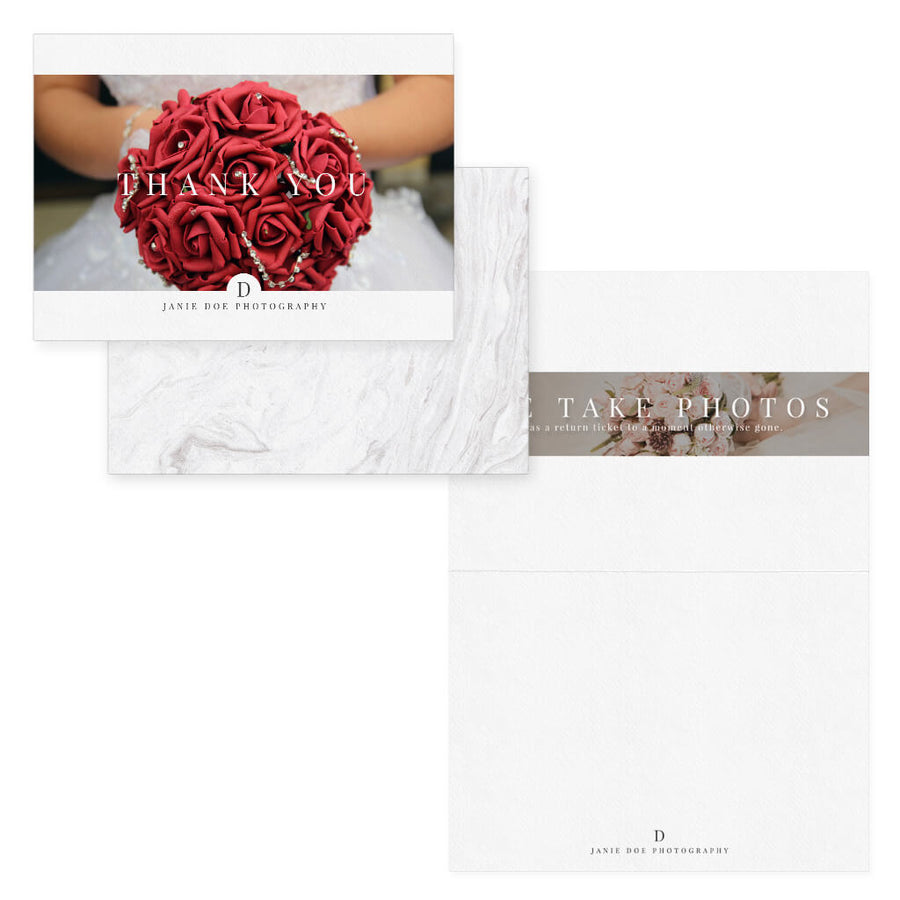 Pure and Simple | Photographer Thank You Card