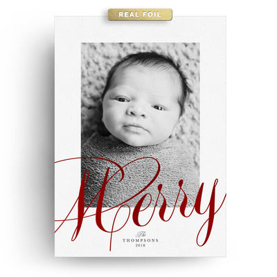 Red Merry | Christmas Card - 3 Dollar Photoshop Templates for Photographers
