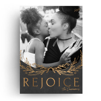 Rejoice | Christmas Card - 3 Dollar Photoshop Templates for Photographers