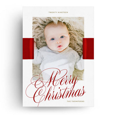 Ribbon | Christmas Card - 3 Dollar Photoshop Templates for Photographers