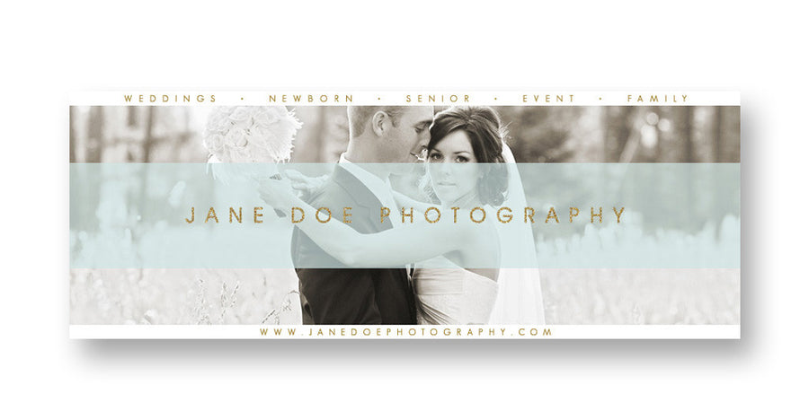 Ribbon | Facebook Cover - 3 Dollar Photoshop Templates for Photographers