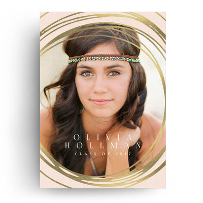Rings | Senior Graduation Card - 3 Dollar Photoshop Templates for Photographers