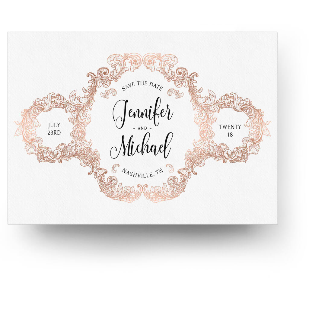 Top Rose Gold | Save-the-Date Card - 3 Dollar Templates RJ68