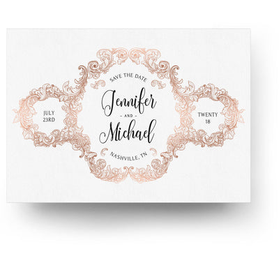 Rose Gold | Save-the-Date Card - 3 Dollar Photoshop Templates for Photographers