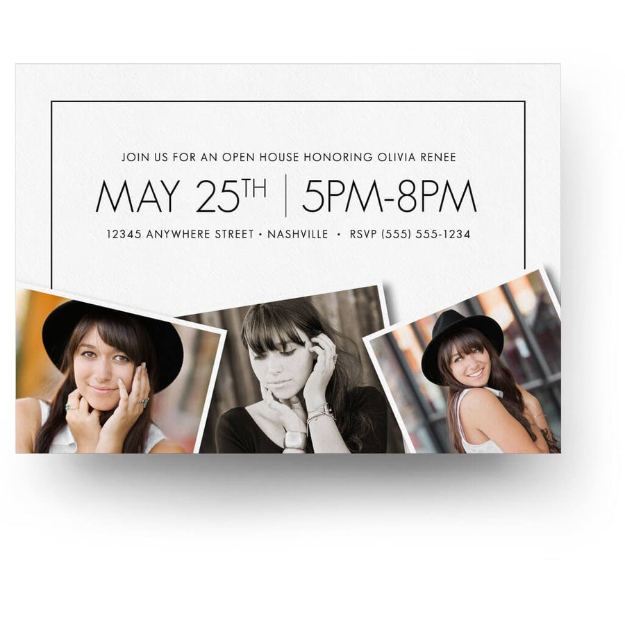 Essentials Card 6 | Senior Graduation Card - 3 Dollar Photoshop Templates for Photographers