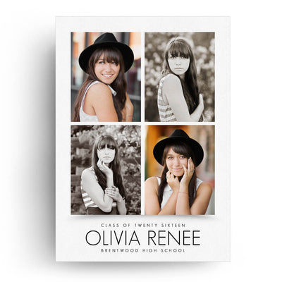 Essentials Card 4 | Senior Graduation Card - 3 Dollar Photoshop Templates for Photographers