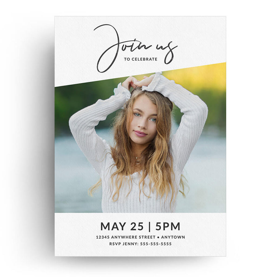 Sarah | Senior Graduation Card - 3 Dollar Photoshop Templates for Photographers