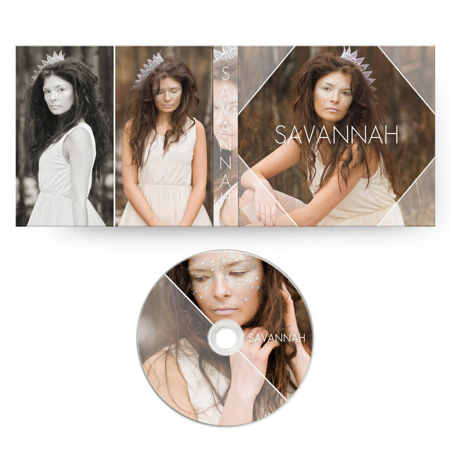 Savannah | CD Case + Optional CD Label - 3 Dollar Photoshop Templates for Photographers