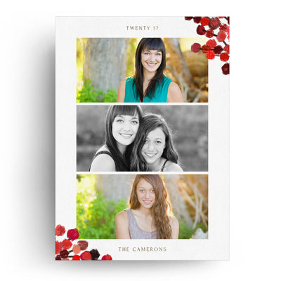Scarlet | Christmas Card - 3 Dollar Photoshop Templates for Photographers