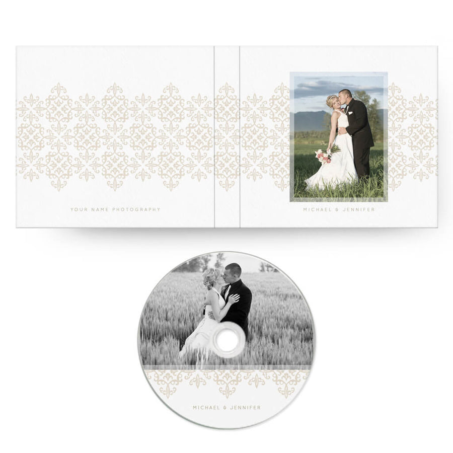 Scroll | CD Case + Optional CD Label - 3 Dollar Photoshop Templates for Photographers
