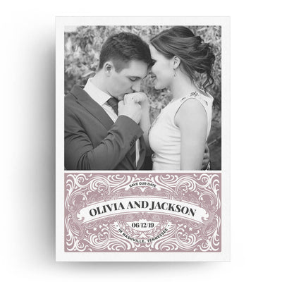 Scroll | Save-the-Date Card - 3 Dollar Photoshop Templates for Photographers