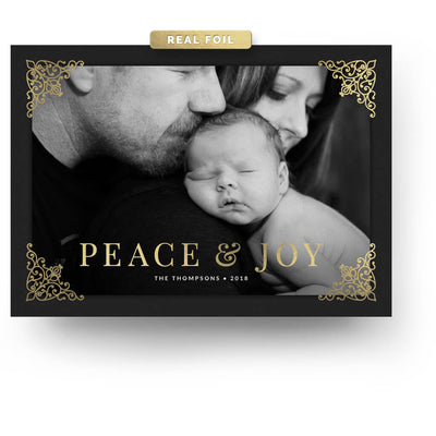 Scrolls | Christmas Card - 3 Dollar Photoshop Templates for Photographers