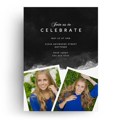 Serene | Senior Graduation Card - 3 Dollar Photoshop Templates for Photographers