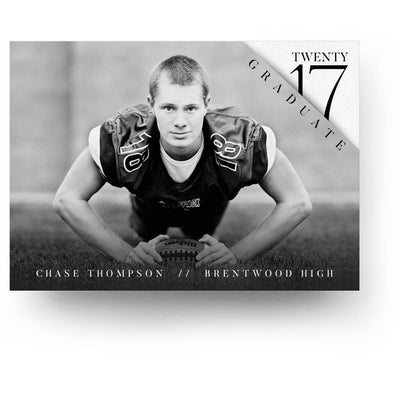 Shadow | Senior Graduation Card - 3 Dollar Photoshop Templates for Photographers