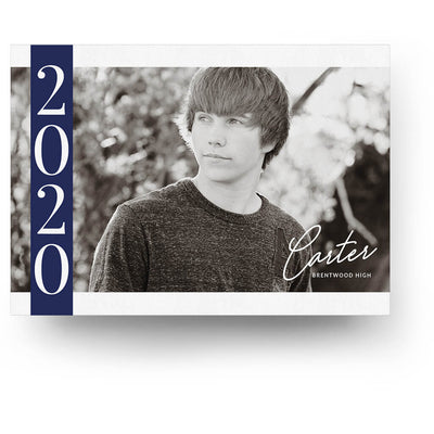 Side Year | Senior Graduation Card - 3 Dollar Photoshop Templates for Photographers